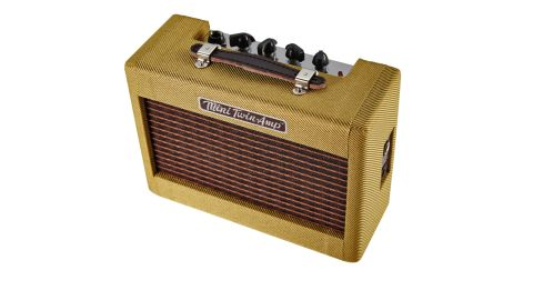 "It's so small it looks like a model amp, but the Mini '57 Twin still packs in two 2"" speakers"