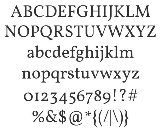 Free web fonts Vollkorn