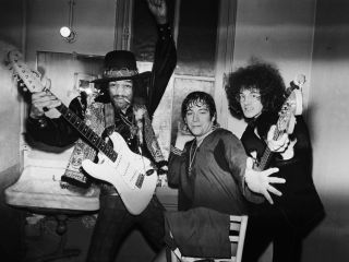 Hendrix with Eric Burdon and Noel Redding in 1968