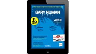 The Gary Numan iPad iPhone special is out now from the free app of Future Music