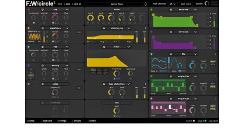 Circle is a cross-platform semimodular subtractive synthesiser with four oscillators