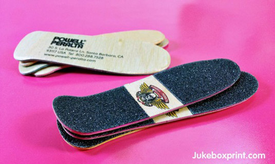 Business cards: Powell-Peralta