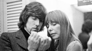 Graham Nash with Joni Mitchell backstage at Carnegie Hall 1969