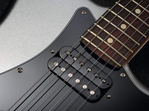 The Blacktop Strat sports a pair of Hot Alnico vintage humbuckers.