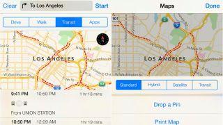 Apple Maps public transit leak