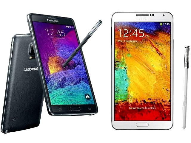 Samsung Galaxy Note 4 Vs Samsung Galaxy Note 3 Specs Comparison