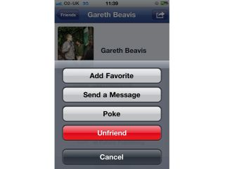 Unfriending on the go. Truly this is the future.