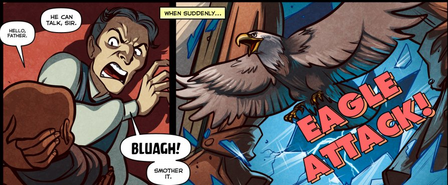 Team Fortress 2 comic, robot heads and massive tank tease