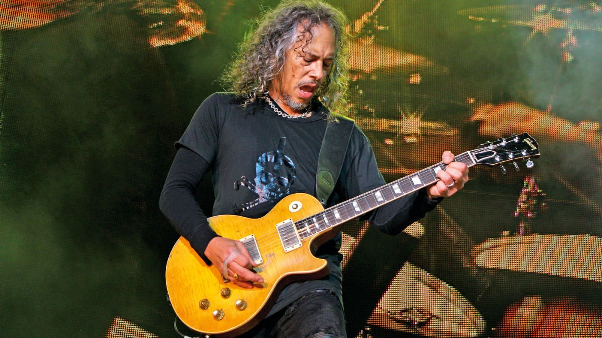 Watch Kirk Hammett guest with UFO playing the legendary Greeny Les Paul