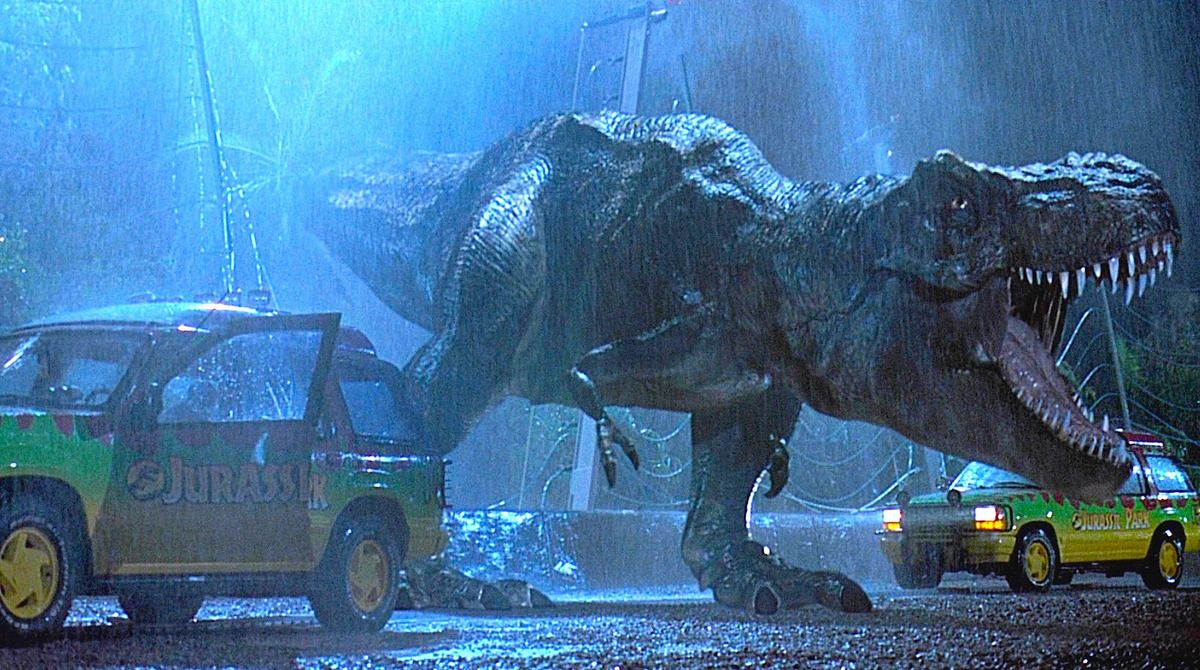 The T. Rex in Jurassic Park nearly met a VERY different ending