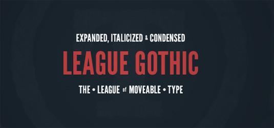 Free web fonts League Gothic