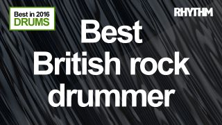 Who was the hardest rocking Brit drummer this year