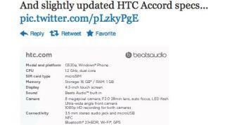 HTC 8X specs