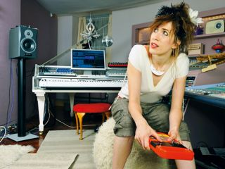 Imogen Heap at her home studio during an exclusive shoot for MusicRadar