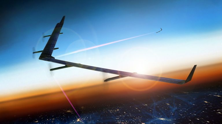 Facebook's Aquila is a massive, solar-powered plane that beams the