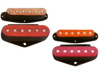 Handmade in the UK: Spotlight (left) and Dragonfly (right) pickups