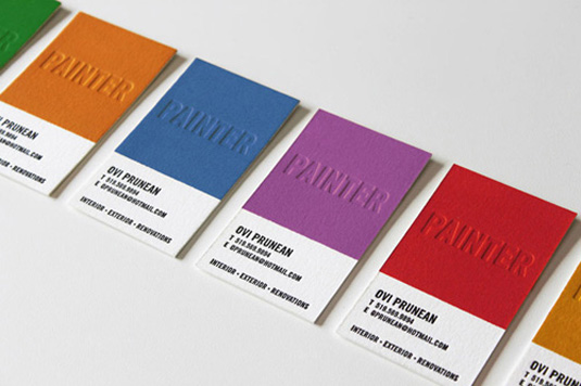 Letterpress business cards: James Prunean