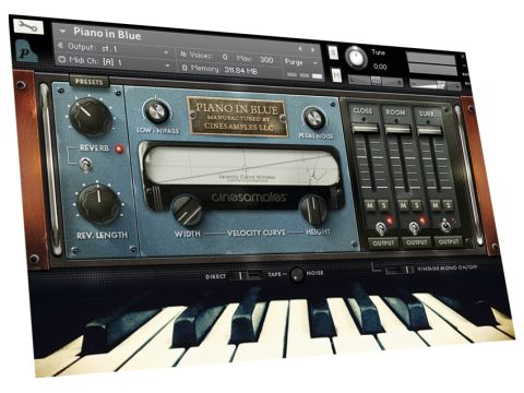 Cinesamples Piano In Blue has an appealing, vintage-styled interface.