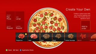 Build and order your pizza with Kinect