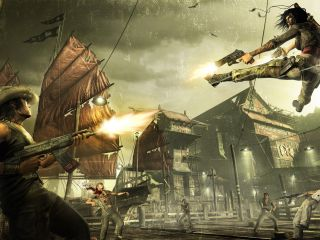 Win a copy of Bethesda's new Grindhouse-style action shooter WET and an Xbox 360 Elite console