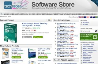 TechRadar's Software download Store