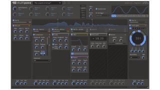 Custom effects in a five-band setup.