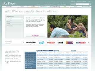 Sky Player TV offers on-demand and live TV