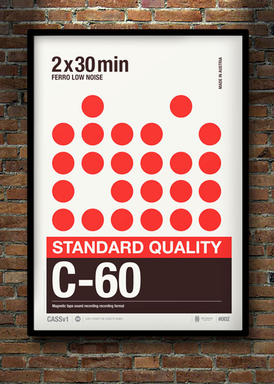 Cassette posters celebrate the art of analogue