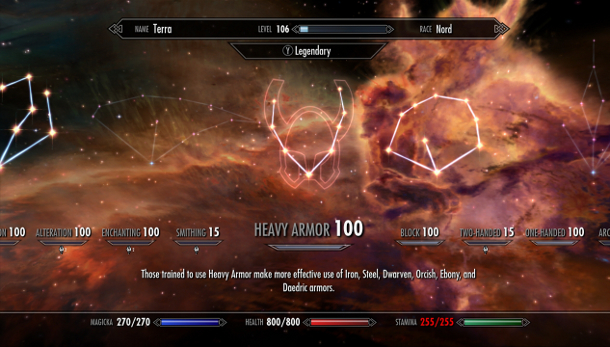 Skyrim's 'Legendary' update hits steam, smashes level cap with a