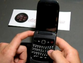 The new BlackBerry Clamshell - it'll probably have a better name than that...