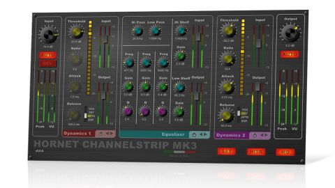 ChannelStrip MK3 boasts a shiny new interface, with modules arranged horizontally rather than vertically