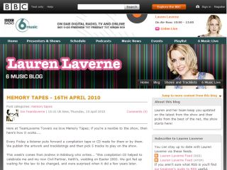 Lauren Laverne, part of 6 Music's daytime lineup