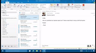 Outlook 2016 on Windows 10.