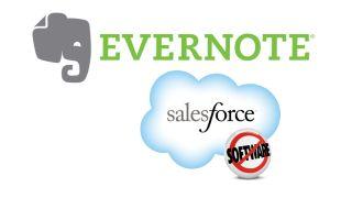 Evernote and Salesforce.com logos