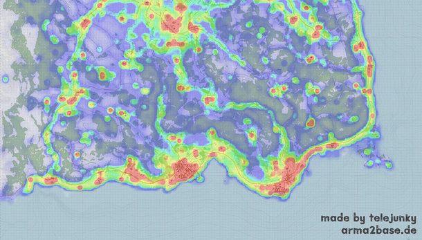 New DayZ player activity map shows where newbies won't ... Dayz Maps on
