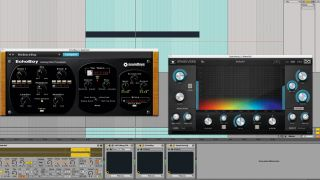 When it comes to sound design, feel free to dig into your folder of plugins and experiment.