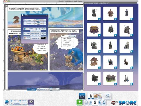 Spore Comic Book Creator