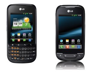 The LG Optimus Pro and the LG Optimus Net - both Gingerbread flavoured