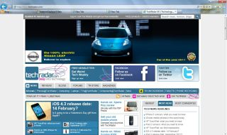 You'll be able to enjoy TechRadar in IE9 very soon