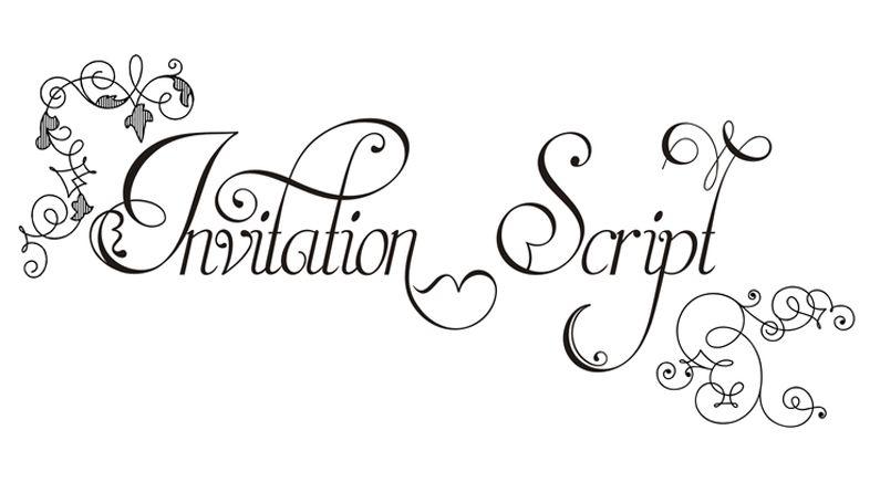 Free Wedding Invitation Fonts: Font Of The Day: Invitation Script