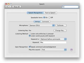 Speech recognition on the Mac