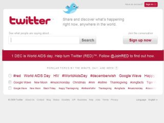 Twitter supports the #red appeal