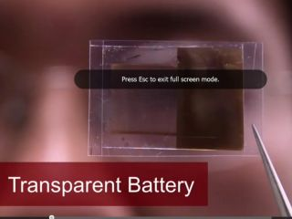 Transparent battery