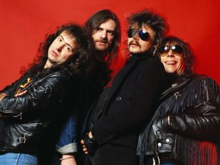 Burston (far right) with Motörhead in 1987