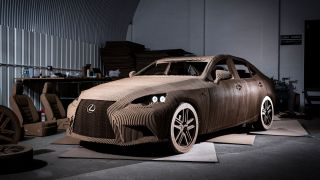 Lexus IS cardboard
