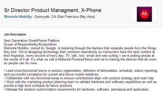 X-Phone outed by Motorola job ad