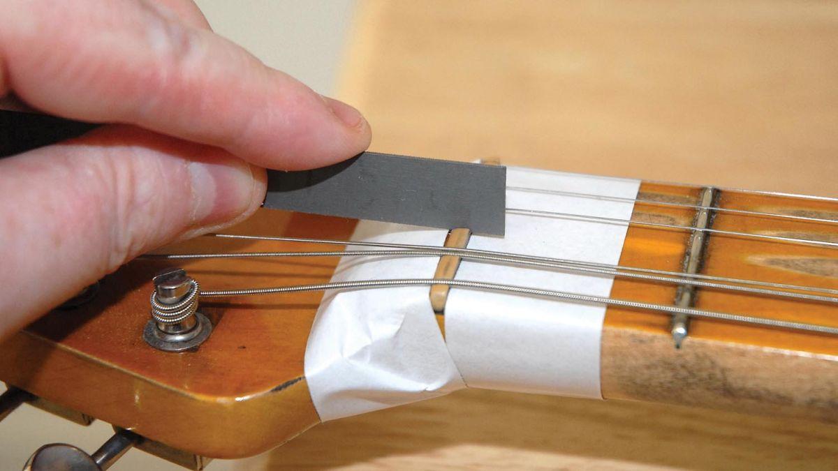 guitar setup how to repair a faulty guitar nut musicradar. Black Bedroom Furniture Sets. Home Design Ideas