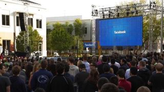 Facebook's second day public