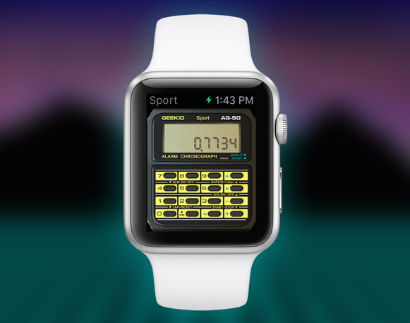 This app turns your Apple Watch into a Casio Calculator