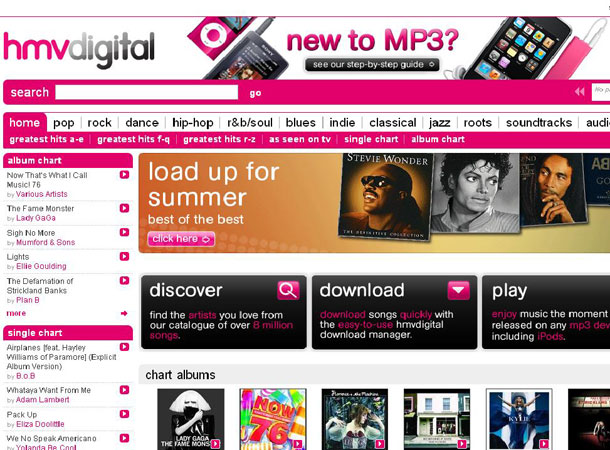 HMV takes on iTunes with new music download service | T3